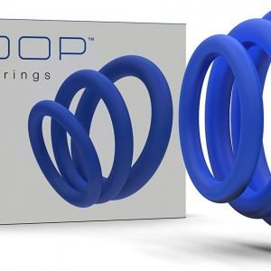 Pure Silicone Cock Rings – 3 Pack  (Blue)